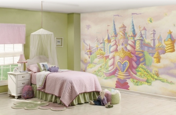 Princess Castle Wall Mural Roomsetting