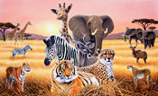 Safari Too Wall Mural