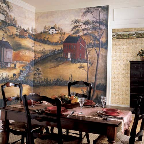 Grazing Scenic Wall Mural Hf8642m By York Wallcoverings