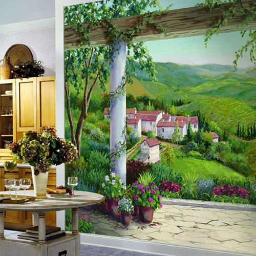 Italian Villa Wall Mural Ra0187m By York Wallcoverings