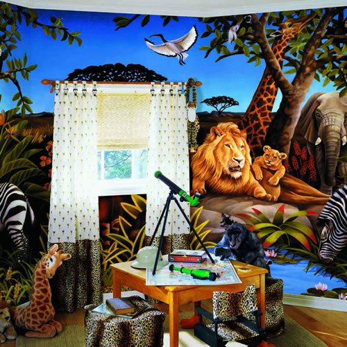 Jungle Mural roomsetting