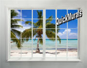 palm beach window mural