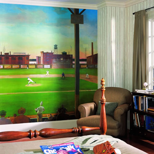 Baseball Wall Murals Wallpaper First Pitch Wall Mural