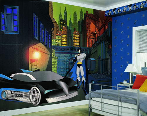 Batman wall mural by york for Batman wall mural