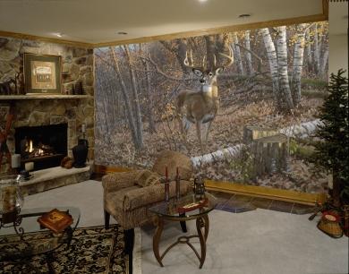 Great Eight Wall Mural Animal Wall Murals Deer Wall Murals