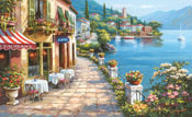 Overlook Cafe Wall Mural