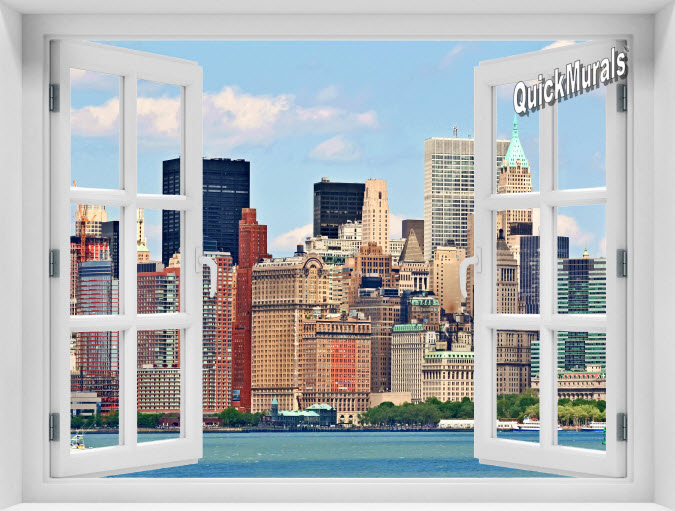 New York City #1 Color Instant Window Mural