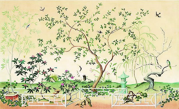 Oriental Garden Scene Wall Mural Ur2043m By York